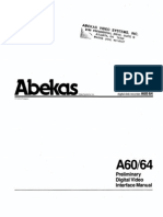 Abekas A60 A64 Digital Disk Recorder Preliminary Interface Manual Aug87