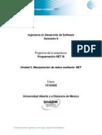 Unidad 3 Manipulacion de Datos Mediante .NET