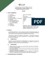 Syllabus Derecho Penal Militar Derecho Uap
