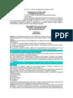 1.2 Reglamente de Ley de Agua Potable y Alcantarillado Del Estado de Sinaloa
