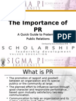 The Importance of PR
