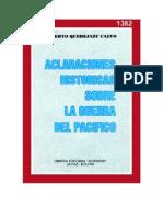 Aclaraciones Historicas Sobre La Guerra Del Pacifico - Roberto Querejazu Calvo