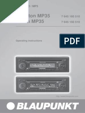 Blaupunkt Essen Mp35 manual | Equalization (Audio) | Compact