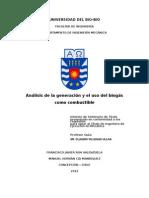 Analisis de La Generacion y El Uso Del Biogas Como Combustible