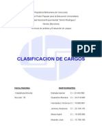 Clasificacion de Cargos.