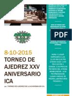 Convocatoria. de ajedrez