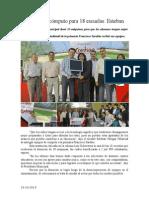 19.10.2014 Equipos de Cómputo Para 18 Escuelas Esteban