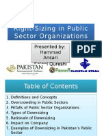 Right-Sizing in Public Sector Organizations(1)