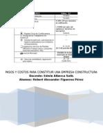 Pasos y Costos Para Constituir Una Empresa Constructura