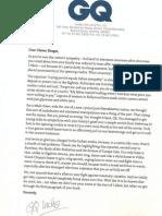 GQ Letter to Chetan Bhagat