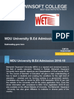 MDU University B.ed 2016-18-Winsoftcollege