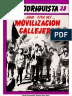 EL RODRIGUISTA (FPMR-PC) N° 25 [1987, Junio]