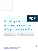 Tecnologia Aerospaziale Di Sicurezza Al Servizio Della Produzione Eolica