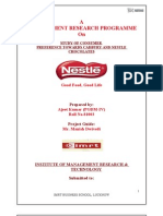 MRP Project(MANAGEMENT RESEARCH PROGRAMME) by Ajeet Samrik. IMRT, Lko