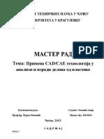 Primena CAD-CAE Tehnologija u Analizi i Izradi Delova Od Plastike