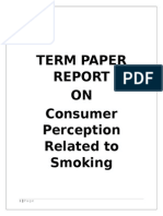 Consumer Perception Related to Smoking Term Paper Final