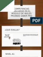 Competencias Evaluadas en El Modulo de Ingles Pruebas