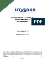 23 ISSM 04.23 Instructiunea SSM - Armator