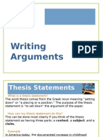 CSC Writing Arguments