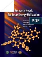 Basic Research Needs for Solar Energy Utilization - Report of the Basic Energy Sciences Workshop on Solar Energy Utilization-April 2005
