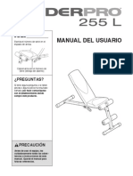 Weider Pro 255L Bench Manual