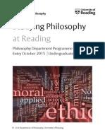 UG Philosophy Handbook 2015-16