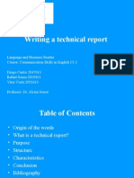 Writing a Technical Report