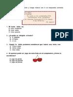Evaluación Diagnosica Lenguaje PME 2° Básico 2015