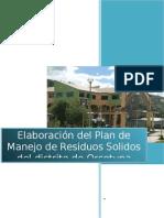 Informe Final Manejo De Residuos Sólodos de Orcotuna