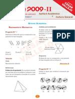 Solucionario Uni 2009-II Aptitud Academica y Cultura General