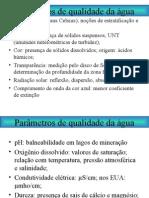 Parâmetros de Poluição (água)
