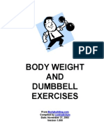 Bodyweight and Dumbbell Exercises