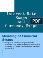 INTEREST RATE AND CURRENCY SWAPS
