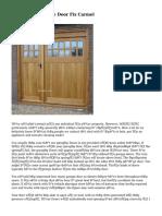 More About Garage Door Fix Carmel