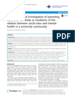 A cross-sectional investigation of parenting style and friendship as mediators of the relation between social class and mental health in a university community.