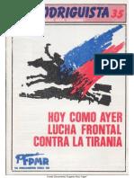EL RODRIGUISTA (FPMR-PC) N° 35 [1988, Diciembre]