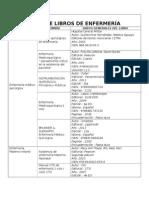 Lista de Libros de Enfermería