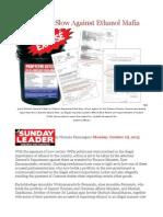 Legal Action Slow Against Ethanol Mafia