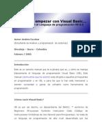 Empezar Con Visual Basic