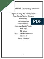 Estudio tecnico operativo