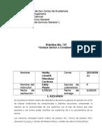 Cuarto Reporte quimica General 1 Universidad de San Carlos
