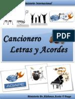 Cancionero Letras y Acordes Iglesia Hecho Por Luis Lara