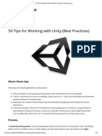 50 Tips for Working With Unity