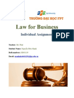 [Law for Business] Individual Assignment_NguyenHuuManh_SB01139_MKT0802