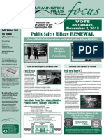 Farmington Hills Focus Newsletter Fall Winter 2015
