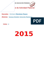Actividad Pastoral - Estefani