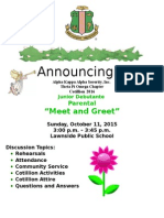 meet n greet for jr  debs parents