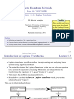 03 01 Laplace Transforms Slides Handout
