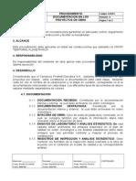 Procedimiento Control de Documentación de Obra 1