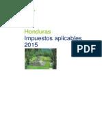 Impuestos aplicables en Honduras
